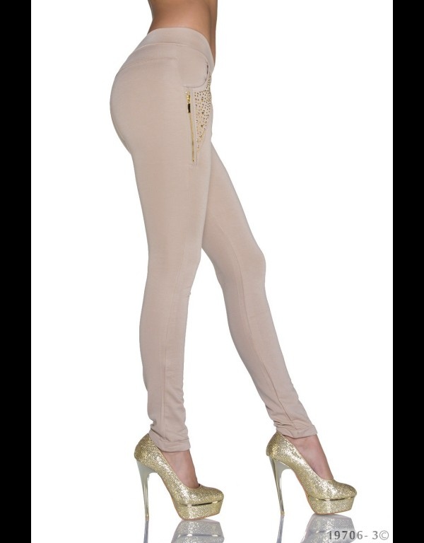 Treggings - beige 19706-3